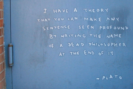 banksy famous plato quote