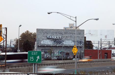 banksy goodbye nyc tag