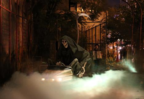 banksy grim reaper bumper car