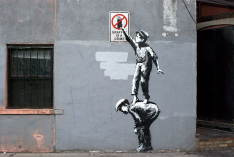 banksy manhattan no graffiti
