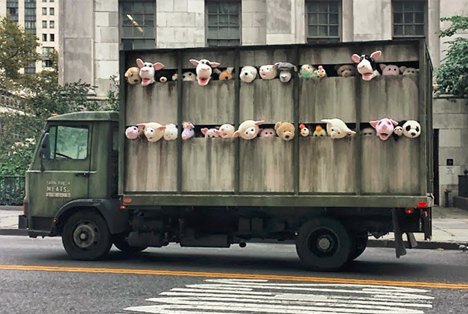 banksy meatpacking district truck