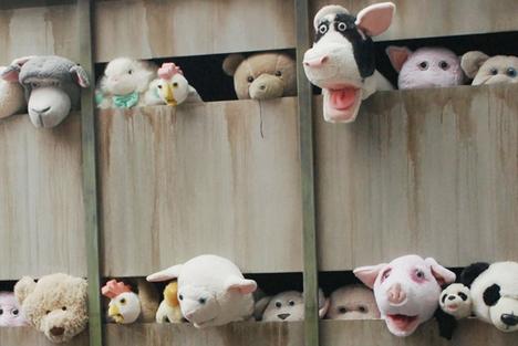 banksy mobile animal art