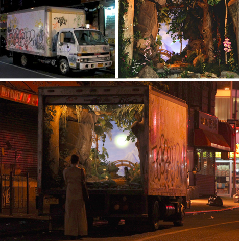 banksy mobile truck art