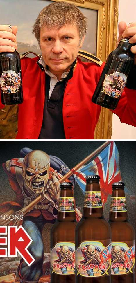 TROOPER Iron Maiden beer Bruce Dickinson
