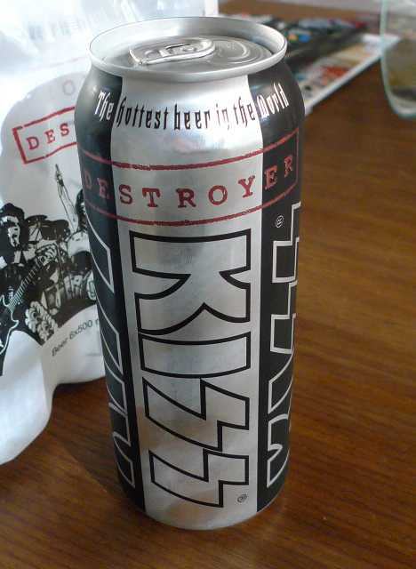 KISS Destroyer beer can