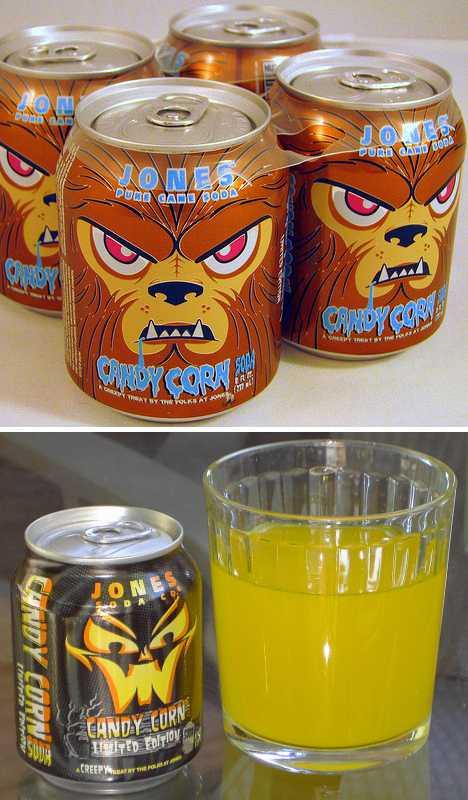 Jones Candy Corn Soda can Halloween