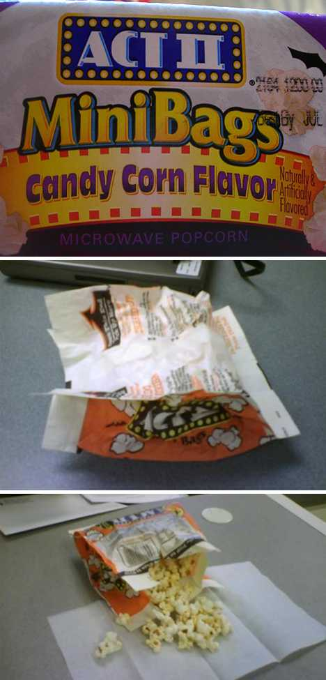 ACT II Candy Corn microwave popcorn