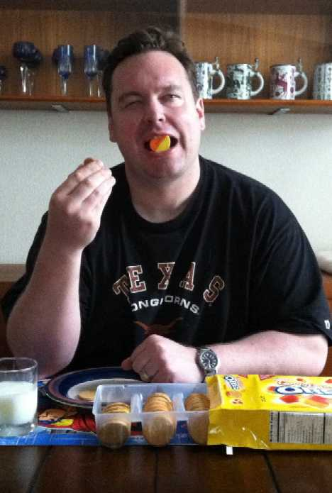 Candy Corn Oreos taste test Ryan Steans