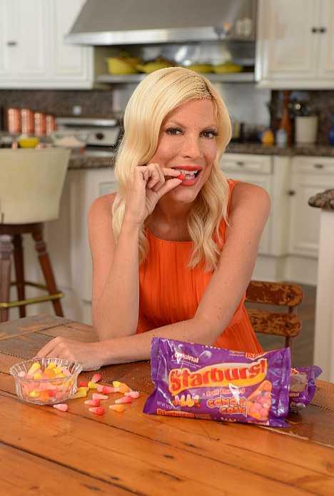 Tori Spelling Starburst Candy Corn