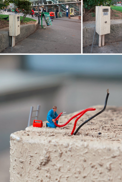 little electrician and ladder