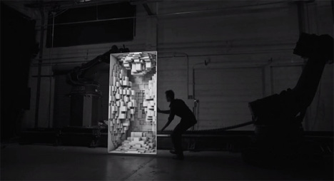 projection mapping performance piece