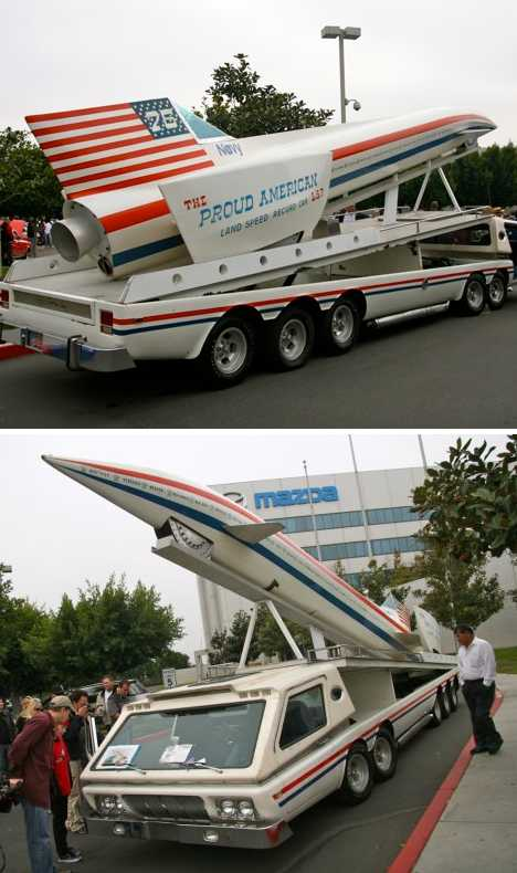 The Proud American LSR rocket car