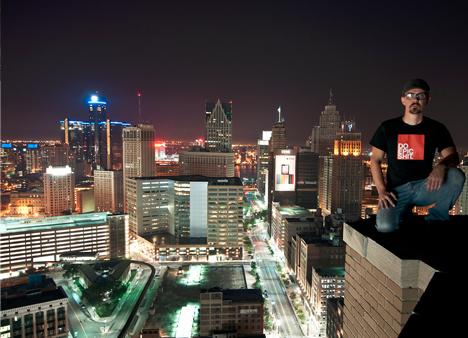 urban rooftopper portrait photo