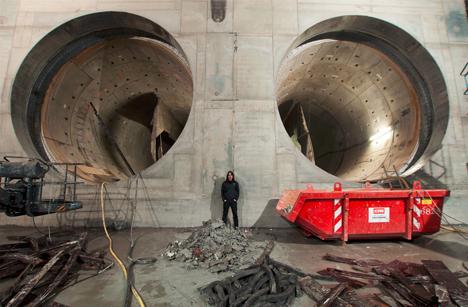 urban underground subway shot