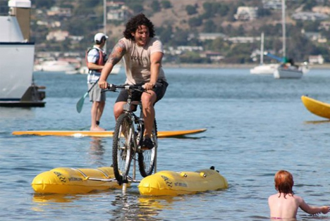 water bicycle mod invention