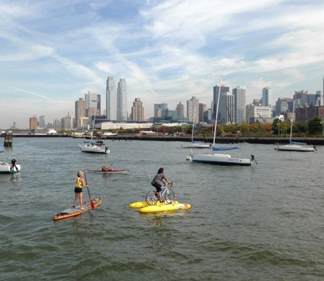 water bike sailors paddlers