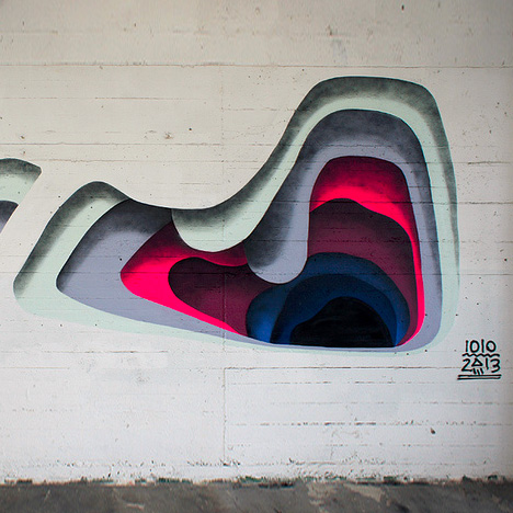Shadowy Secrets Colorful Layering Creates Trick 3d Murals