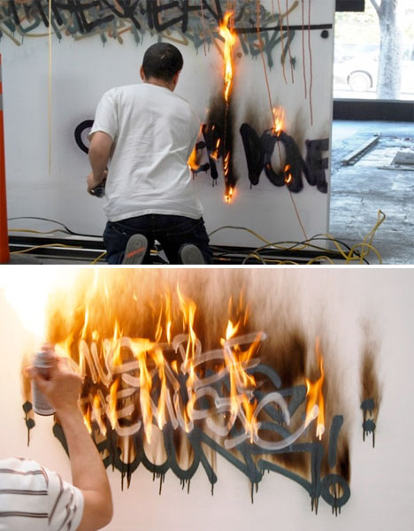 Fire Art Graffiti Ellis Gallagher