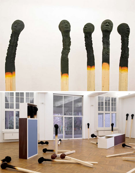 Fire Art Matchstick Men