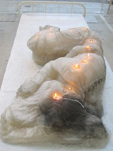 Fire Art Wax Woman