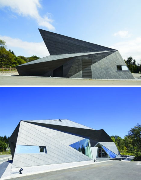 Origami inspired architecture 14 geometric structures for Karuizawa architecture
