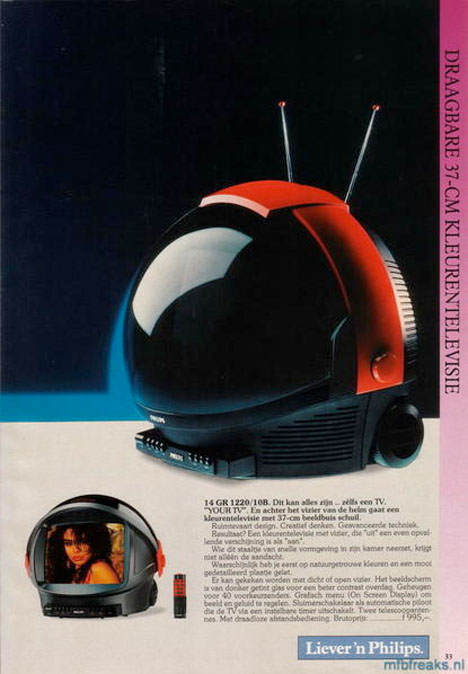 Retro Television Phillips Discoverer Space Helmet