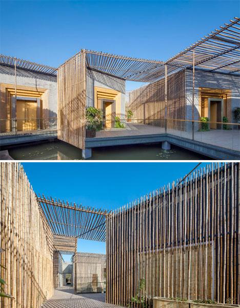 The art of tranquility 14 modern tea house designs urbanist for Modern bamboo house plans