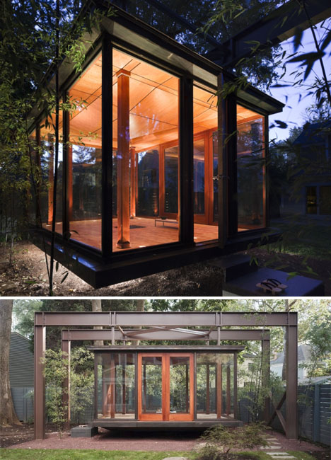 The art of tranquility 14 modern tea house designs urbanist for Modern japanese tea house design