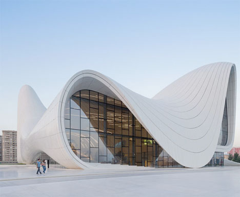 Flowing forms curved new cultural center by zaha hadid for Form architecture