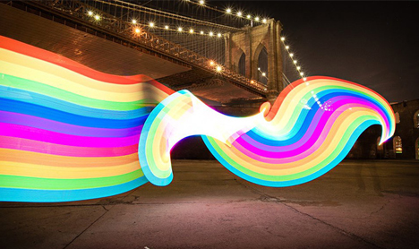 animated rainbow art