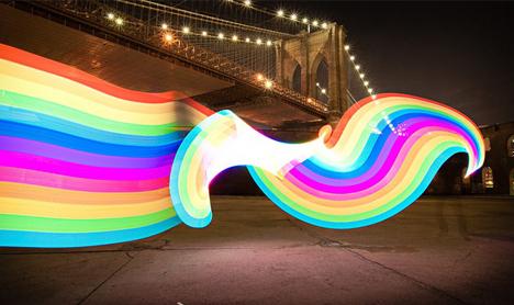 animated rainbow art