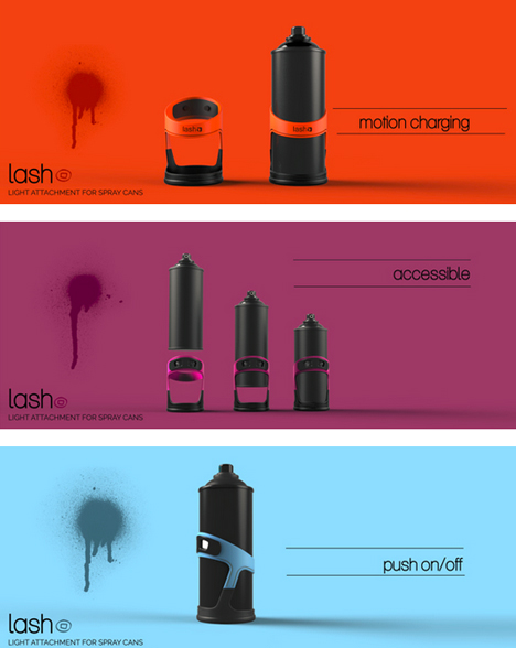 led spray can design
