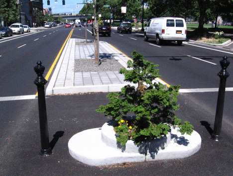 micro park crosswalk