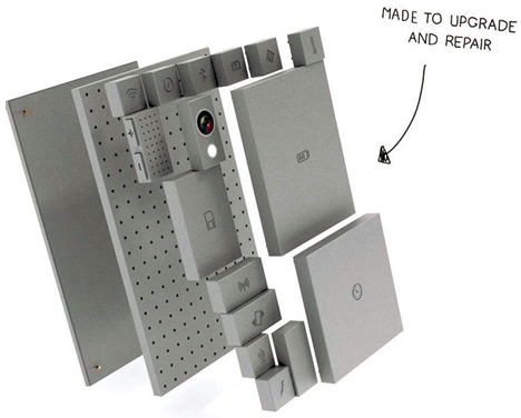 modular upgradeable phone concept