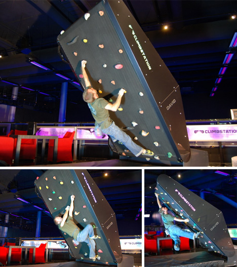 rock wall climber demo