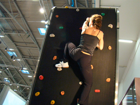 Climbing Wall Treadmill Exercise Machine Rocks Your House