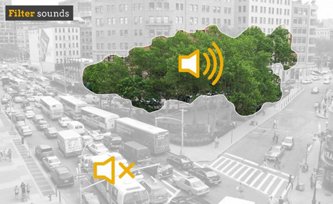 sound filtering city nature