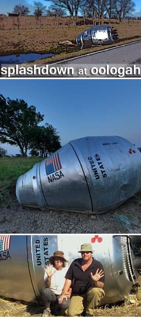 Oklahoma cement mixer space capsule
