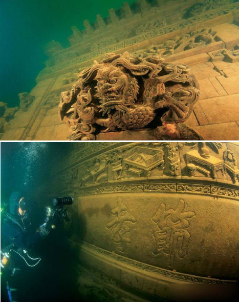 Abandoned China Underwater Lion City 1