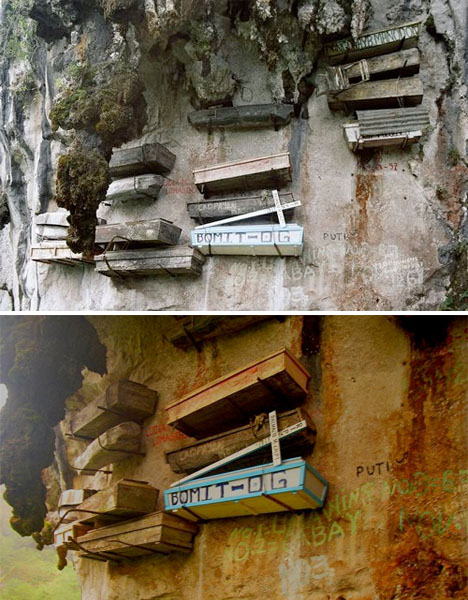 Crazy Cemeteries Hanging Coffins