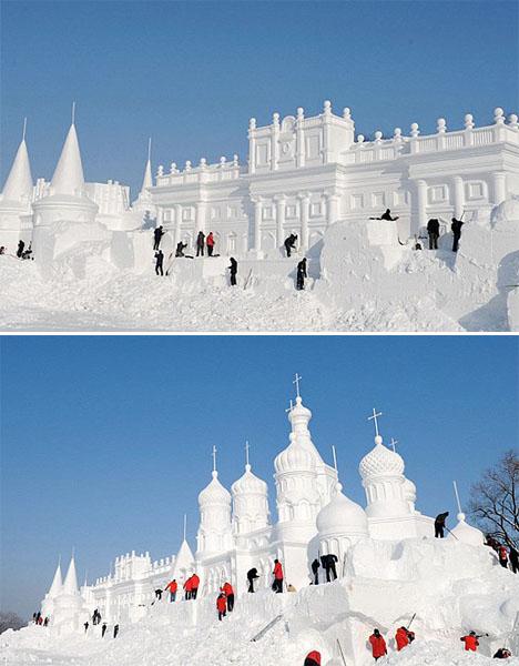 Ice Architecture China Snow World