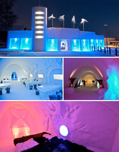 Ice Architecture Lumilinna Finland