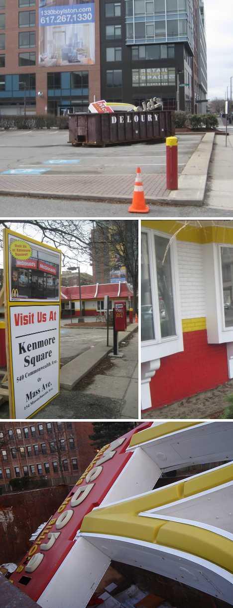 abandoned demolished McDonald's Boylston Boston