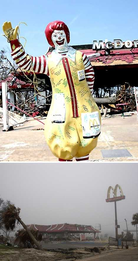 abandoned McDonald's Biloxi clown