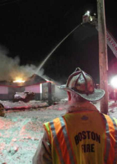 abandoned McDonald's West Roxbury arson