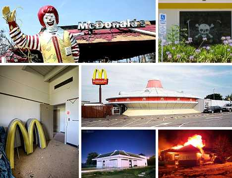 abandoned closed McDonald's