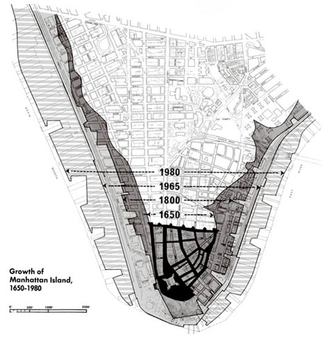 NYC Infographic Growth of Manhattan