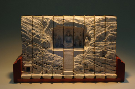 book art chinese temple