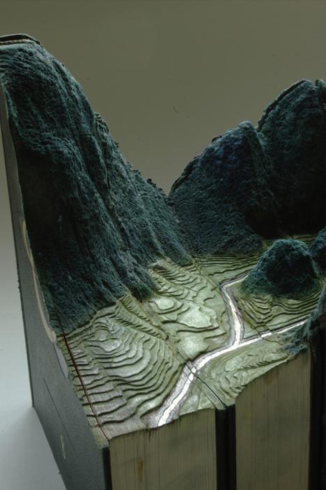book art landscape detail