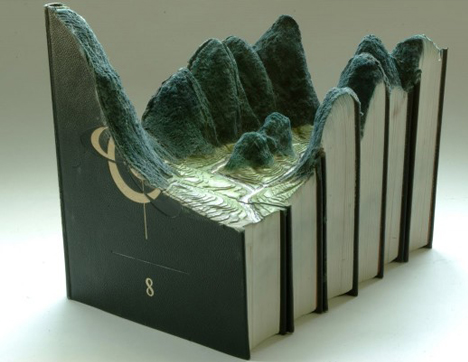 book art mountain landscape
